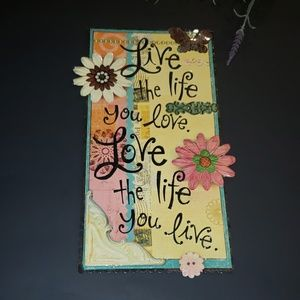 Whimsical Country Metal Wall hanging